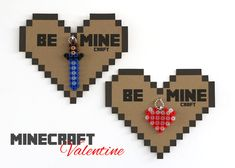 bliss bloom {blog} ~ a craft and lifestyle journal: Make // Minecraft Valentines - Free Printable