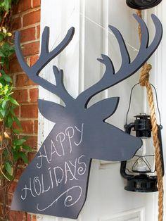 Chalkboard Reindeers Christmas Decoration - 50 Best Outdoor Christmas Decorations | http://homebnc.com/best-outdoor-christmas-decorations/2/ | #christmas #outdoor #outdoors #decoration #holidays #decor #homedecor #idea #creative #diy #beautiful #creative #ideas #homebnc