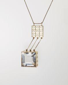 Paula Häiväoja for Kalevala Jewelry ~Precious metal, rock crystal necklace, 1964. | Phillips.com