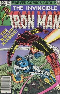 Iron Man (1968 1st Series) 156  Marvel Comics Modern age Bronze Age Comic book covers Super Heroes  Villians