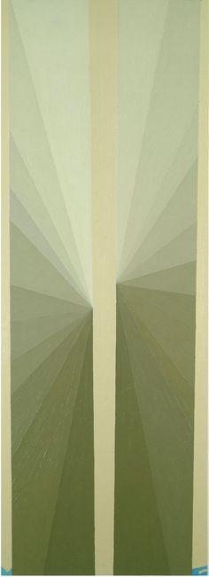 Mark Grotjahn, Untitled (White Butterfly Blue MG), 2001