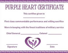 purple certificate template free download