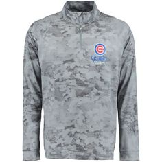 Chicago Cubs Under Armour Tech Novelty Quarter-Zip Performance Pullover - Gray - $59.99