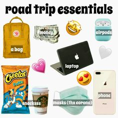 Travel Packing Checklist, Printable Packing List, Road Trip Packing List, Travel Bag Essentials, Packing Tips For Vacation, Road Trip Essentials, Road Trip Hacks, Vacation Trips, Road Trips