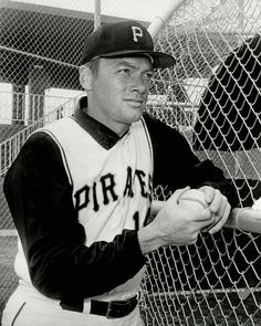 There are relatively few photos of Jim Bunning wearing a Buccos uniform, as he was with them for not quite two full seasons. Bunning was the second pitcher in Major League history to strike out batters in each league. The first was Cy Young. Baseball Uniforms, Nationals Baseball, Team Uniforms, Sports Baseball, Sports Teams, Baseball Cards, Pirate Pictures, Baseball Pictures, Pittsburgh Pirates Baseball