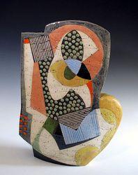 New York Spring Dream. Clay Design, Ceramic Design, Ceramic Clay, Ceramic Pottery, Aboriginal Painting, Cute Clay, Modern Ceramics, Ceramic Artists, Art Object