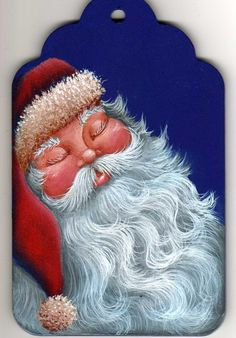 Santa, napping, Painting Pattern Packet - Dawksart.Etsy. $6.50, via Etsy.