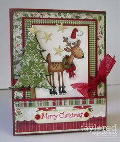 Winter Wonderland stamp by Taylored Expressions.  Merry Christmas Deer by Melody Rupple          9-28-11