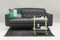 Canapé droit Onkel Tissu / 2 places - L 185 cm Gris clair - Normann Copenhagen