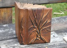 Hey, I found this really awesome Etsy listing at https://www.etsy.com/listing/60340428/leather-blank-book-journal-tree-of-life