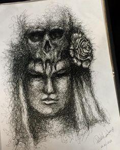 Día de los muertos - apenas caneta e muitos rabiscos esquisitos | #diadelosmuertos #skull #skullart #rose #flower #creepy #sketch #sketching #sketchaday #sketchoftheday #cranium #rosa #rabiscos #drawing #instadraw #drawingoftheday #pendrawing #pen #blackandwhite #art #artwork #instaart #artsy #artoftheday #arts_help #talentedpeopleinc #arts_gallery #artstagram #artnerd by roberta_arakaki