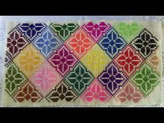 🖇Use this beautiful cross stitch design for your hessian purse bags. This design is very attractive. Embroidery Stitches Tutorial, Embroidery Art, Cross Stitch Embroidery, Cross Stitch Designs, Cross Stitch Patterns, Cross Stitch Cushion, Wedding Cross Stitch, Palestinian Embroidery, How To Make Purses