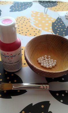DIY Colored Sugar Pearls