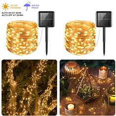Solar Fairy Lights, Outdoor Fairy Lights, Solar String Lights, Outdoor Lighting, Outdoor Gardens, Indoor Outdoor, Copper Wire Lights, Christmas Events, Paper Lanterns