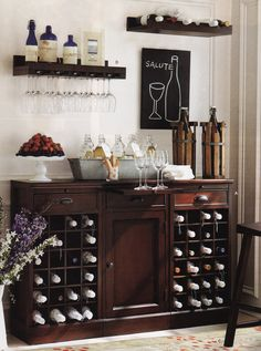 Love this buffet with wine storage - need it in my dining room, asap!