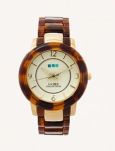 i like: Tortoise Shell Creme Dial Indo Lucite Watch