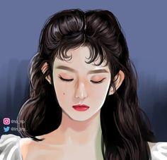 Velvet Video, Red Velvet Flavor, Kpop Drawings, Red Velvet Irene, Aesthetic Drawing, Digital Art Girl, Book Cover Art, Kpop Fanart, Art Sketchbook