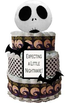 How freaking cool!!!Nightmare Before Christmas Theme Diaper Cake.  http://www.etsy.com/listing/110383205/nightmare-before-christmas-theme-diaper?ref=sr_gallery_30_search_query=nightmare+before+christmas_order=most_relevant_view_type=gallery_ship_to=ZZ_page=30_search_type=all#