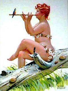 Vintage plump pin up Hilda by Duane Bryers art work wall hanging. Arte Pin Up, Betty Boop, American Calendar, Curvy Pin Up, Calendar Girls, Wow Art, Illustrations, Illustration Artists, Pin Up Girls