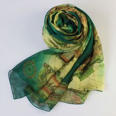 England brazil world cup 2014 map and flag print scarf summer scarf all scarf order usd100 dark green silk chiffon scarf with map print green mulberry silk scarf as38 gumiabroncs Choice Image
