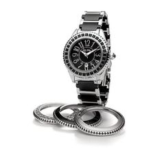 Crafted from stainless steel and ceramic material, this stylish Folli Follie timepiece from Ceramic 4 Seasons collection will look great with all your ensembles. What we absolutely love about this timepiece is the fact that we can change the round be Gift Finder, Ceramic Materials, Rolex Watches, Bracelet Watch, Jewelery, Great Gifts, Seasons, Ceramics, Steel