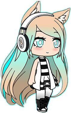 gacha Life - Sticker by naima abdi Kawaii Anime, Arte Do Kawaii, Chibi Kawaii, Cute Anime Chibi, Anime Girl Drawings, Cute Kawaii Drawings, Anime Wolf Girl, Anime Art Girl, Cute Anime Character