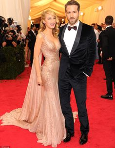 Certain to land on numerous best-dressed list, Blake Lively, who attended with husband Rya...