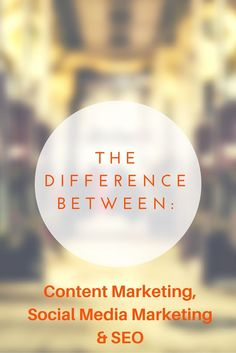 If the title of this post doesn't sound very original to you - that's because it's not. There are many posts about this topic. But I am still surprised on a daily basis by the ignorance with which the differences between these different areas of online marketing are met by various people... even members of the online marketing community. So I decided to write my own post about this. And here we go. ...