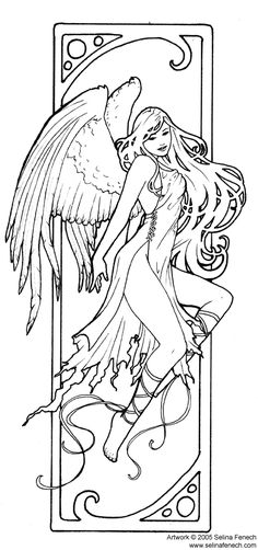 Enchanted Designs Fairy Mermaid Blog: Free Fairy Coloring Pages by Selina Fenech
