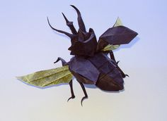 Flying Atlas Beetle by Nguyen Hung Cuong, folded by me | by Shikigami no Mai
