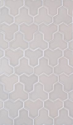 Bedford Concept 11 - 3X3 Sarner Hex in Cloud . Ceramic Tile from Country Floors Bedford Collection.