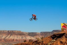 Kyle Strait launches during the 2012 Redbull Rampage Freeride Mtb, Red Bull, Snowboarding, Mountain Biking, Monument Valley, Product Launch, Bike, Explore, Travel