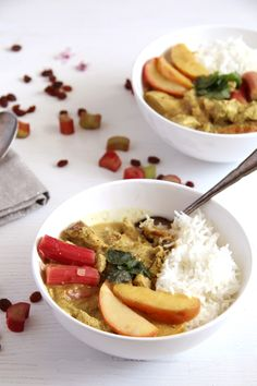 Rhubarb Chicken Curry