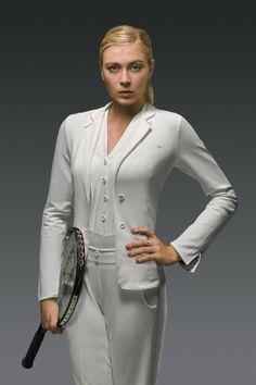 Maria Sharapova in the Nike tuxedo look