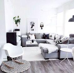 35 Scandinavian Living Room Design for Best Home Decoration Home Interior, Home Living Room, Apartment Living, Interior Design Living Room, Living Room Designs, Living Room Decor, Interior Livingroom, Design Scandinavian, Scandinavian Living