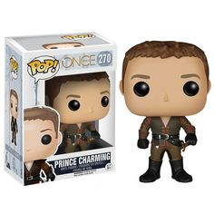This is the Once Upon A Time Prince Charming POP Vinyl Figure that's produced by the nice folks over at Funko. Prince Charming is looking pretty stellar in his Funko POP Vinyl form. Super cool! Fans o