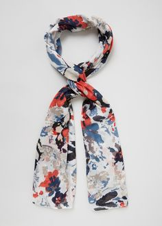 Faded Floral Scarf - Matalan