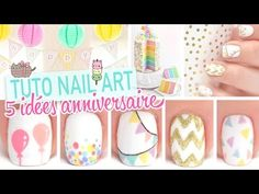 Ideas for nails art facile anniversaire French Nail Designs, Nail Art Designs, Nails Design, Birthday Nail Art, Nail Art Design Gallery, Christmas Nail Designs, Acrylic Nail Art, Cool Nail Art, Trendy Nails