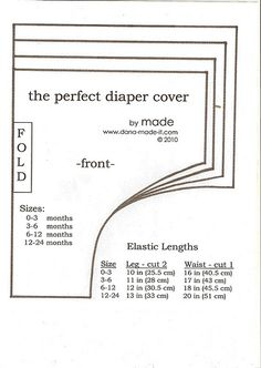 Pattern for diaper cover Baby Bloomers Pattern, Baby Dress Patterns, Baby Clothes Patterns, Sewing Patterns, Blanket Patterns, Crochet Patterns, Baby Sewing Projects, Sewing For Kids, Couture Bb