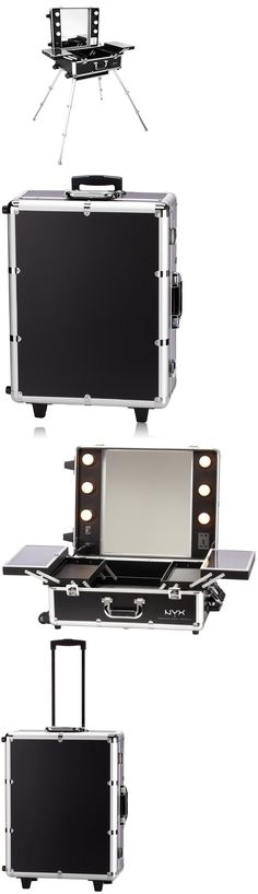 Rolling Makeup Cases: Large Rolling Make Up Station Portable Nyx Makeup Artist Train Case With Lights -> BUY IT NOW ONLY: $497.98 on eBay!