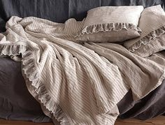 Check out this item in my Etsy shop https://www.etsy.com/uk/listing/562432603/ruffle-lace-linen-bedding-set-washed
