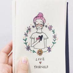 給自己-希望你能多愛自己一點 Love yourself #20170502 #art #artwork #illustration #loveyourself #heart