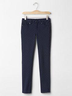 Knit schoolgirl jeans