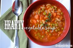 Hearty Vegetable Soup from @Shrinking Kitchen #light #easy #soup
