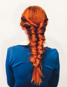 Easy faux fishtail braid (click-through for full tutorial)