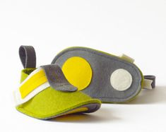 Boys & girls green baby shoes soft baby booties Pop by LaLaShoes, $46.00