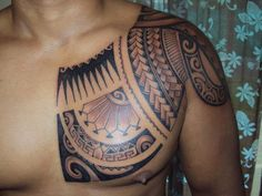 Polinesyan Tribal Tattoos Designs Tribal Chest Tattoos for Men