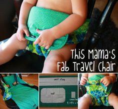 DIY Baby Travel Chair #diy #baby