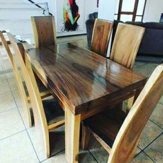 Meja makan kayu trembesi Jepara quality furniture