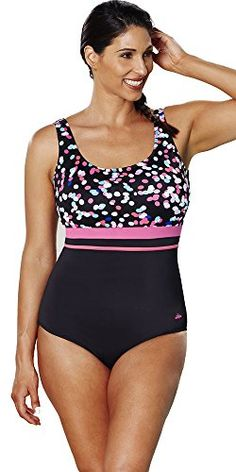 0691c3e612ddb Introducing Aquabelle Womens Plus Size Chlorine Resistant Empire Swimsuit  26 Multi. Great product and follow